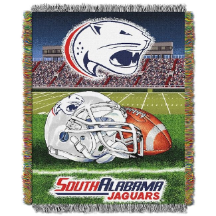 NCAA South Alabama Jaguars Home Field Advantage 48x60 Tapestry Throw