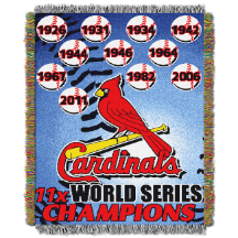 MLB St. Louis Cardinals Commemorative 48x60 Tapestry Throw