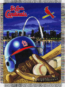 MLB St. Louis Cardinals Home Field Advantage 48x60 Tapestry Throw