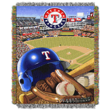 MLB Texas Rangers Home Field Advantage 48x60 Tapestry Throw