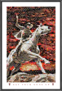 NCAA Texas Tech Red Raiders Red Rider Mosaic
