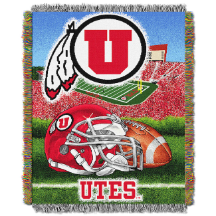NCAA Utah Utes Home Field Advantage 48x60 Tapestry Throw