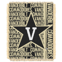 NCAA Vanderbilt Commodores FOCUS 48x60 Triple Woven Jacquard Throw
