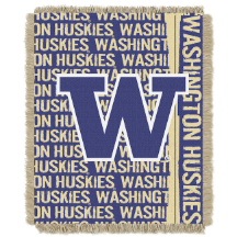 NCAA Washington Huskies FOCUS 48x60 Triple Woven Jacquard Throw