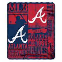 MLB Atlanta Braves 50x60 Fleece Throw Blanket