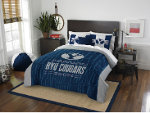 NCAA BYU Cougars QUEEN Comforter and 2 Shams