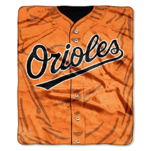 MLB Baltimore Orioles 50x60 Raschel Throw