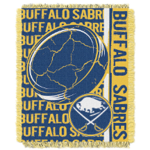 NHL Buffalo Sabres 48x60 Triple Woven Jacquard Throw