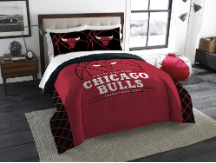 NBA Chicago Bulls QUEEN Comforter and 2 Shams