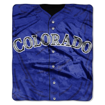 MLB Colorado Rockies 50x60 Raschel Throw