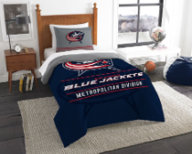 NHL Columbus Blue Jackets Twin Comforter Set