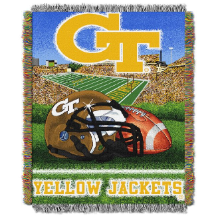 NCAA Georgia Tech Yellow Jackets Home Field Advantage 48x60 Tapestry Throw