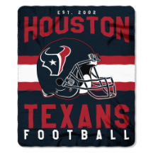 NFL Houston Texans 50x60 Fleece Throw Blanket