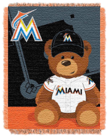 MLB Miami Marlins Baby Blanket