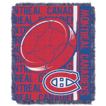 NHL Montreal Canadiens 48x60 Triple Woven Jacquard Throw
