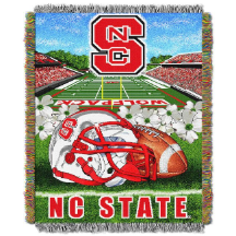 NCAA NC State Wolfpack Home Field Advantage 48x60 Tapestry Throw