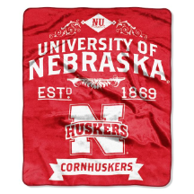 NCAA Nebraska Cornhuskers 50x60 Raschel Throw Blanket
