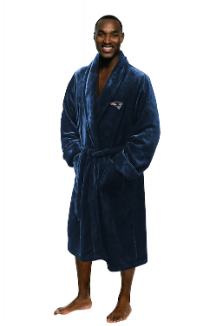 NFL New England Patriots Silk Touch Bath Robe (MENS LARGE/XL)