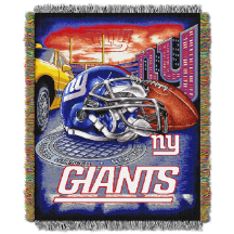 NFL New York Giants Home Field Advantage 48x60 Tapestry Throw