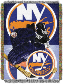 NHL New York Islanders Home Ice Advantage 48x60 Tapestry Throw