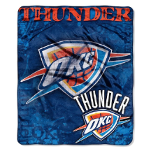 NBA Oklahoma City Thunder REFLECT 50x60 Raschel Throw
