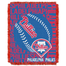 MLB Philadelphia Phillies 48x60 Triple Woven Jacquard Throw