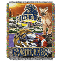 NCAA Pittsburgh Panthers Home Field Advantage 48x60 Tapestry Throw