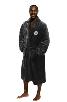 NFL Pittsburgh Steelers Silk Touch Bath Robe (MENS LARGE/XL)
