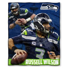 NFL Seattle Seahawks Russell Wilson 50x60 Silk Touch Blanket