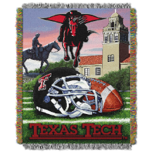NCAA Texas Tech Red Raiders Home Field Advantage 48x60 Tapestry Throw