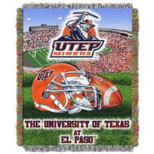 NCAA UTEP Miners Home Field Advantage 48x60 Tapestry Throw