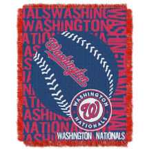 MLB Washington Nationals 48x60 Triple Woven Jacquard Throw