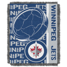 NHL Winnipeg Jets 48x60 Triple Woven Jacquard Throw