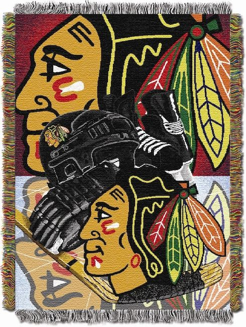 Nhl Chicago Blackhawks Home Ice Advantage 48x60 Tapestry Throw Buy At Team