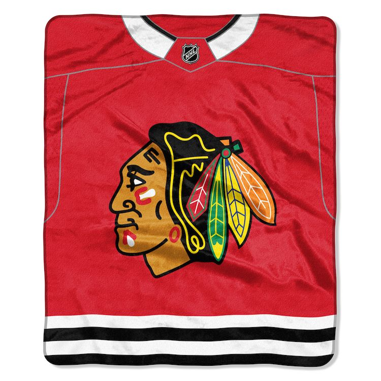 Nhl Chicago Blackhawks Jersey 50x60 Raschel Throw Buy At Team