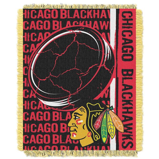 Nhl Chicago Blackhawks Spiral 48x60 Triple Woven Jacquard Throw Buy At Team