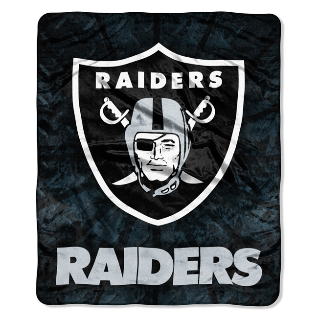 NFL Oakland Raiders 50x60 Raschel Throw - Buy at Team-Bedding.com