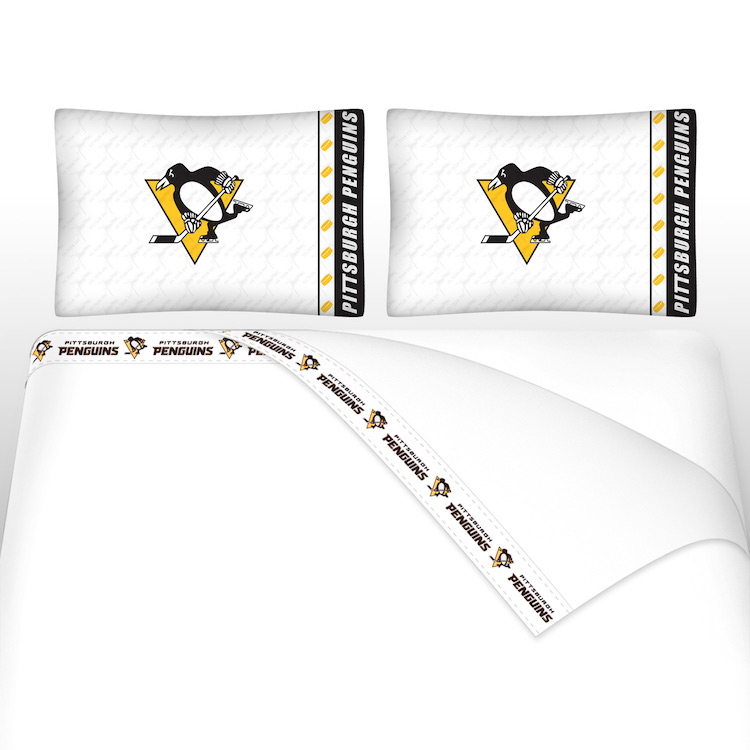 NHL Pittsburgh Penguins Micro Fiber Bed Sheets