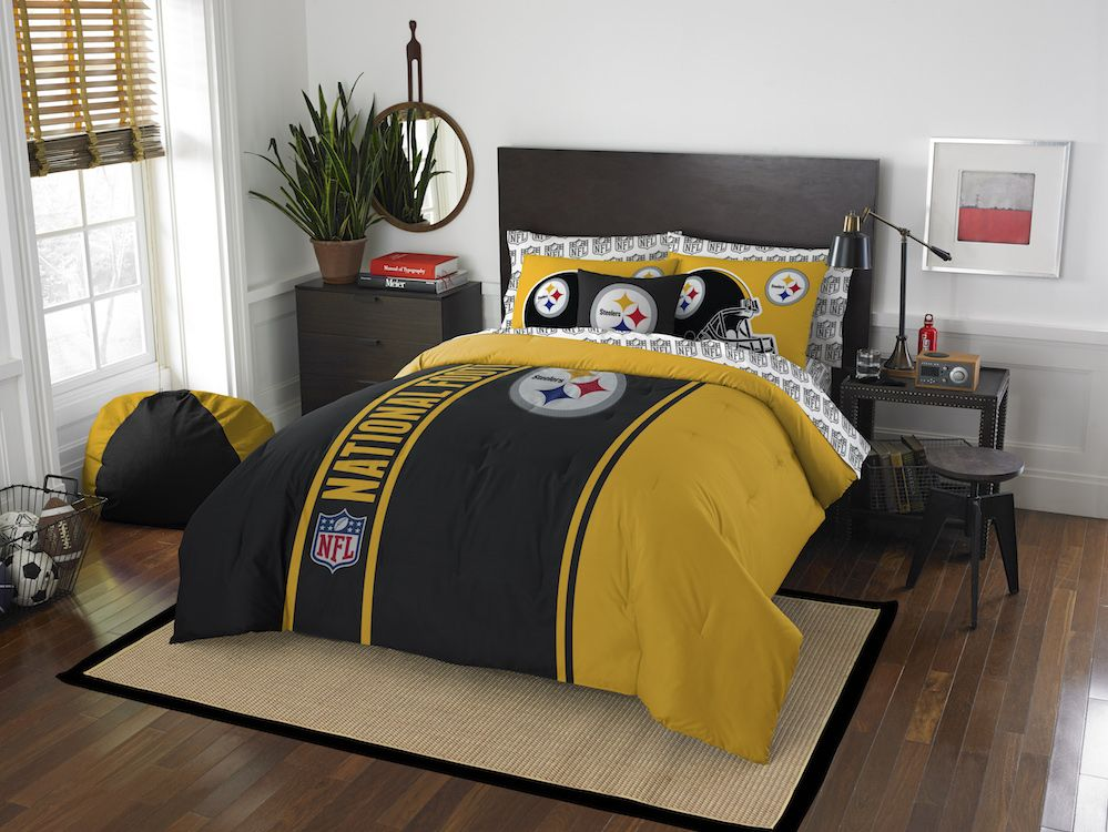 NFL Pittsburgh Steelers FULL Bed In A Bag - Buy at Team-Bedding.com