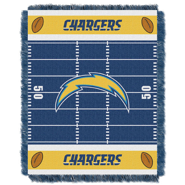 San Diego Chargers Bedding Sets: NFL Los Angeles Chargers Baby Blanket