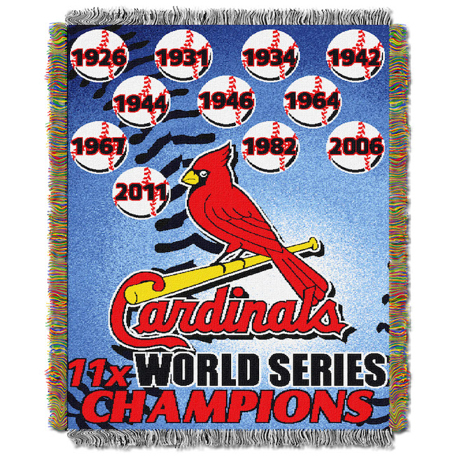 Mlb St Louis Cardinals Commemorative 48x60 Tapestry Throw Buy At Team